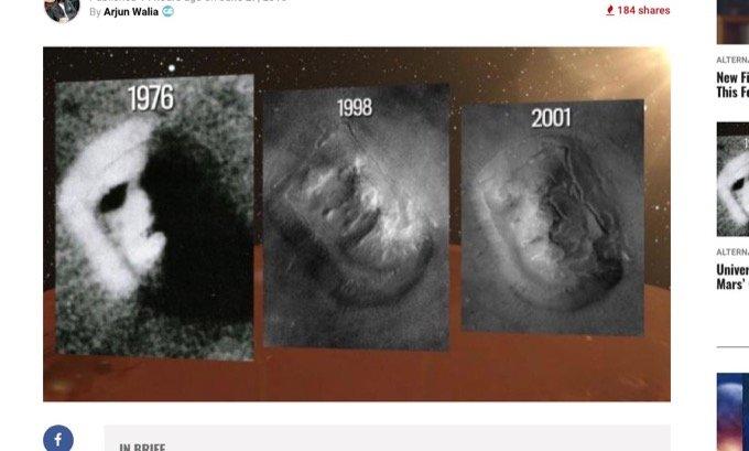 「火星の人面岩」は本当に人工物だったと結論? 大学教授らが最先端分析で眼球と歯を確認、古代火星文明の存在が確定か?の画像1
