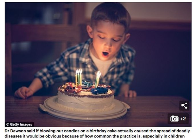 誕生日ケーキのろうそくを吹き消すと、細菌が最大12000%増加することが判明! 串カツの二度づけはもっと不潔!!の画像1