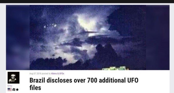 ブラジル政府が極秘UFO情報を大公開中! 軍が認定したUFO大量出現事件の詳細判明「20機以上がうじゃうじゃ…」の画像1