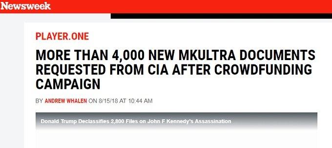 【ガチ】CIA洗脳実験「MKウルトラ」資料4000頁以上をCIAが初公開へ! 通電拷問、LSD大量投与…最凶に邪悪な人体実験の全貌!の画像1