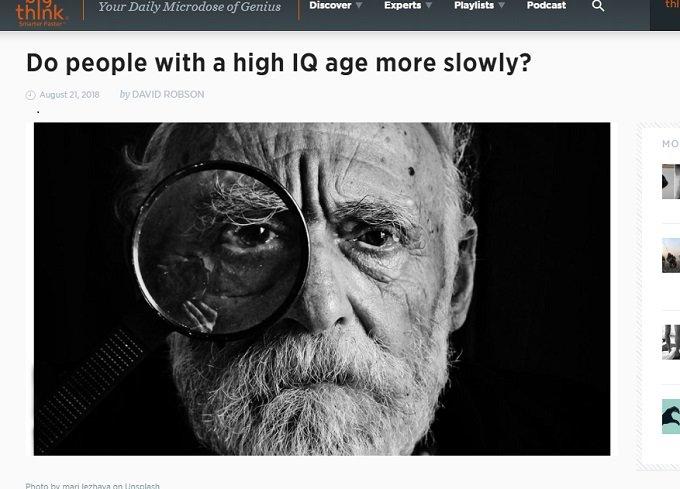 IQが高い人ほどゆっくり年を取ることが判明! 知性と健康リスク、「主観年齢」の謎の画像1