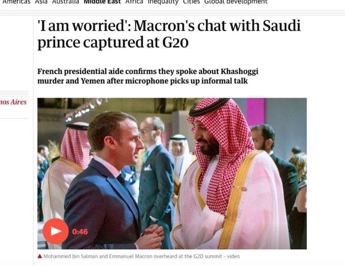 仏マクロンがサウジ皇太子に激おこで詰め寄る衝撃映像が流出!「おまえさ、オレの話を聞いてねえじゃんかよ」の画像1