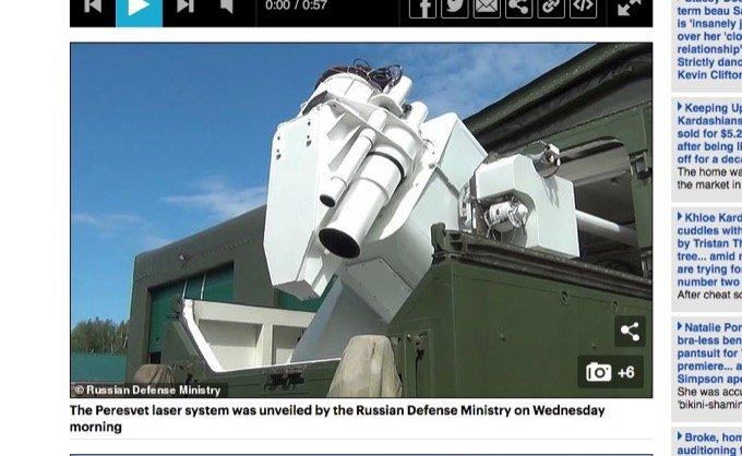 0.5秒で標的破壊、ロシアが最凶新型レーザー兵器「ペレスヴェート」実戦配備! プーチンが第三次世界大戦に緊急支度!の画像1