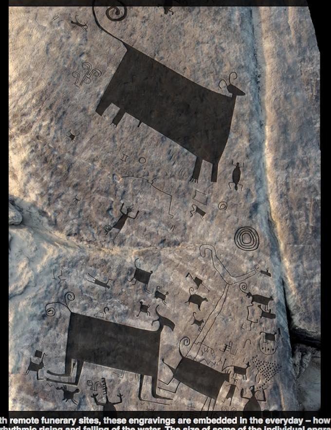 2千年前の「古代レイブパーティー」を描いた岩絵がベネズエラで発見される! 古代パリピ&動物たちがブチアゲでヤーマン状態の画像1