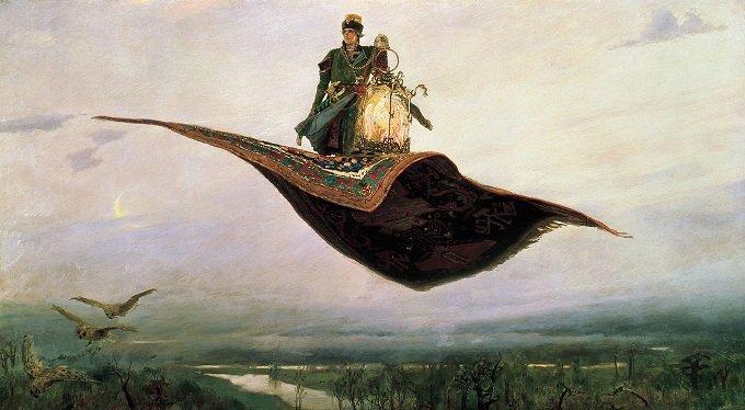 空飛ぶ魔法の絨毯は実在した? 紀元前には国王の軍隊が全部乗れるサイズのものもあった?の画像1