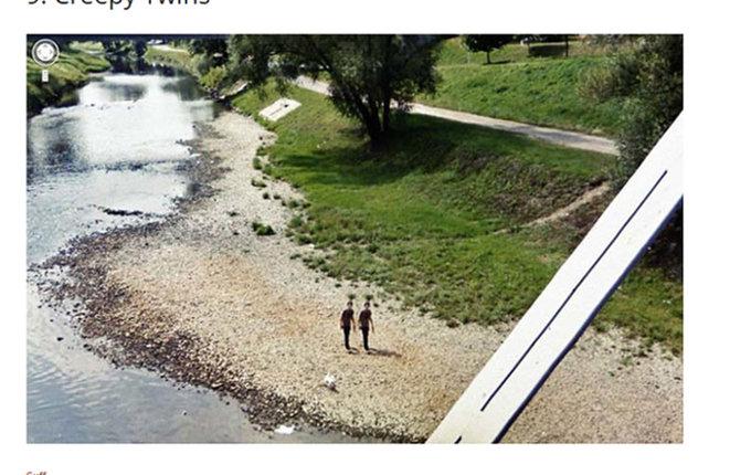 グーグルマップに映った不気味すぎる光景5選! 排水口のピエロ、ドッペルゲンガー、異様な双子も…!の画像3