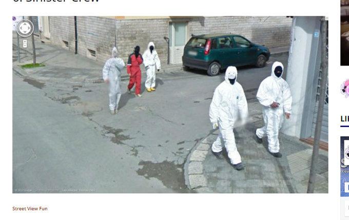 グーグルマップに映った不気味すぎる光景5選! 排水口のピエロ、ドッペルゲンガー、異様な双子も…!の画像7