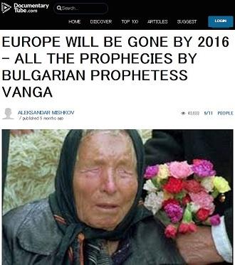 最高予言者ババ・ヴァンガの「イスラム国」予言が完全的中! 2016年の「大ムスリム戦争」勃発と「ヨーロッパ壊滅」は確定か?の画像1