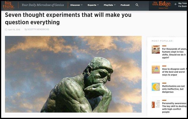 人類の世界観を一変させる「7つの哲学的思考実験」が意識高すぎる! メアリーの部屋、快楽機械、沼男… あなたの答えは?の画像1