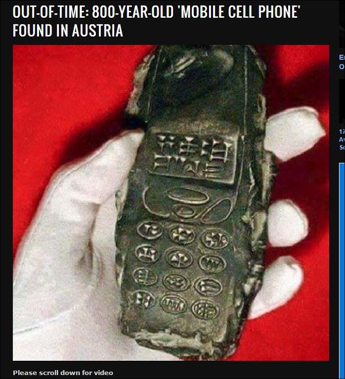 【衝撃】800年前の携帯電話が出土した? 世界史を塗り替える大発見か?=オーストリアの画像1