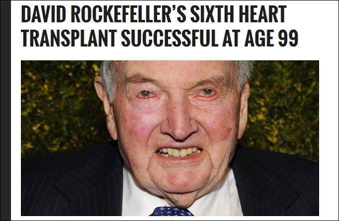 デイヴィッド・ロックフェラー101歳、早すぎる死。どうなるイルミナティ、NWO、クローン牧場、カニバリズム…!の画像1