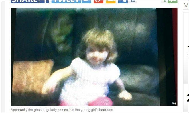 あまりにも恐ろしい! 2歳幼女の背後に出現した「魔女の霊」の表情に世界が凍りつくの画像1