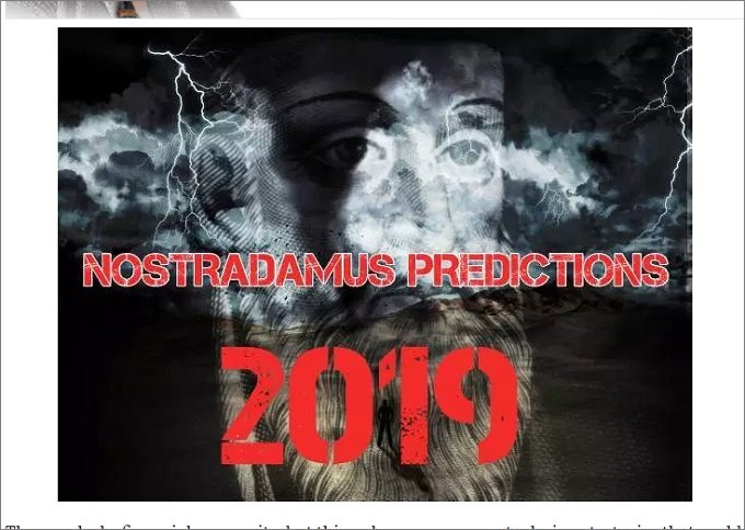 2019年ノストラダムスの予言を大公開! 移民押し寄せ日本滅亡、最高気温100度、地震連発、寿命は200歳に…!の画像1