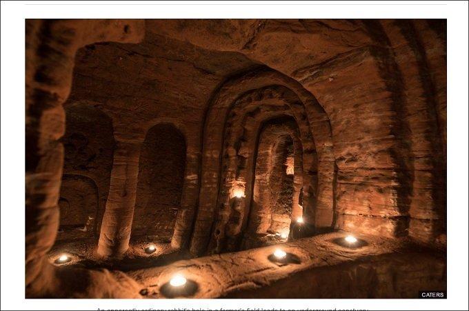「ウサギの穴」を抜けたら、謎の巨大神殿が広がっていた! 超神秘的空間が公開される!=イギリスの画像1