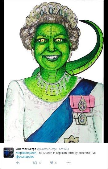 BBC放送中に「エリザベス女王の一部がレプティリアン化した」とのツイート多数! しかし速攻で消去され…の画像1