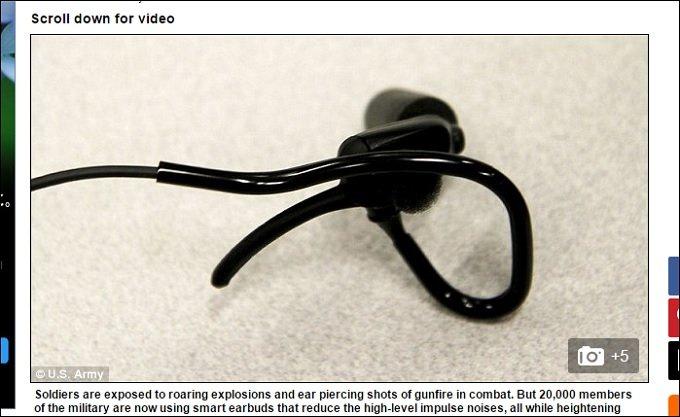 超・地獄耳が手に入るスマート補聴器「TCAPS」を米軍が実用化し兵士2万人に配備へ!の画像1