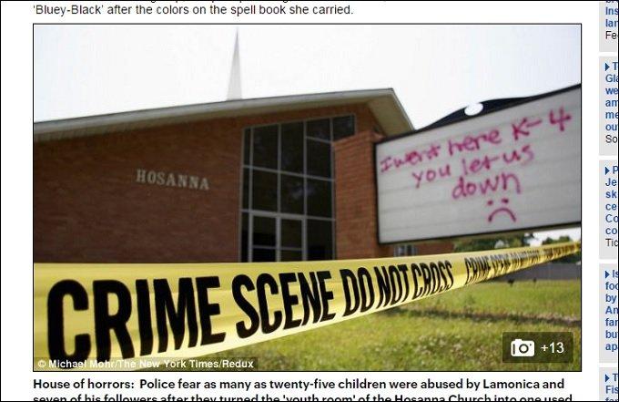 【閲覧注意】幼児を輪姦、子ども同士のセックス強要、血と糞尿まみれの獣姦も…! 教会の「悪魔的儀式虐待」で奉納された少年少女の画像1