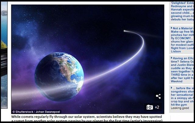 【衝撃】太陽系外から飛来した謎の天体「A/2017 U1」は人工天体だ! 専門家緊急コメント「宇宙人が偵察機をバラ撒いた可能性」の画像1