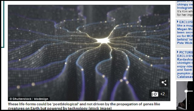 【ガチ】「宇宙人は肉体を超越し、既にAIと融合している」米教授断言! 人類もポスト生物の時代に突入へ、肉体はシリコン素材で不死身に!の画像2