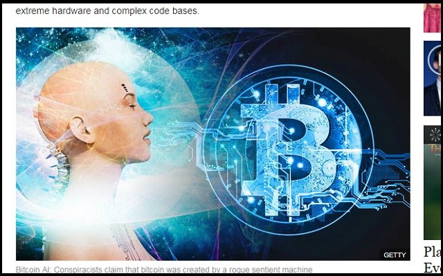 ビットコイン開発者「サトシ・ナカモト=AI説」が浮上! 仮想通貨は悪いAIが創造した人類支配ツール!の画像1