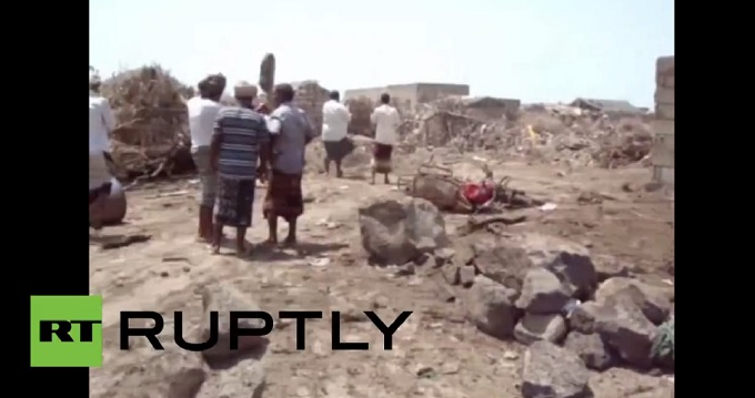 【131人死亡】散乱する肉片…誤爆された結婚式場の残酷映像!! イエメン内戦の悲惨な現実の画像1