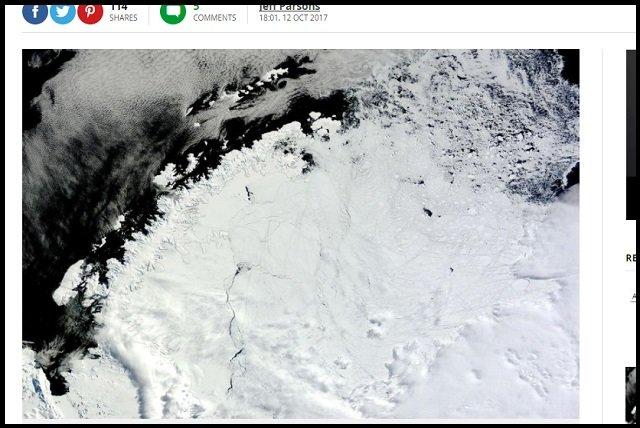 南極のド真ん中に超巨大穴「ポリニヤ」(4万平方km)が出現! 形成から消滅までのメカニズムが不明、科学者困惑「宇宙人基地の可能性」の画像1