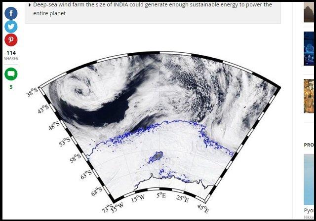 南極のド真ん中に超巨大穴「ポリニヤ」(4万平方km)が出現! 形成から消滅までのメカニズムが不明、科学者困惑「宇宙人基地の可能性」の画像2