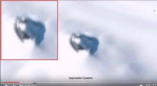 南極の雪に埋もれた「巨大UFO」がグーグルアースで発見される! 数百年前に墜落した機体が地球温暖化で露出かの画像2