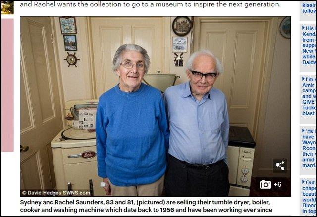 60年前の家電製品を使い続けた物持ちの良すぎる老夫婦がカッコよすぎる! 2人が断言「昔の方が質が良かった」=イギリスの画像1