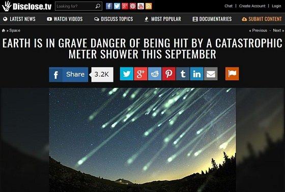 11月下旬までに巨大隕石シャワーで人類滅亡か!? 「おうし座流星群」に含まれる小惑星衝突のリスクが顕在化の画像1