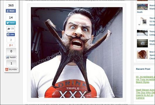 髭ラーメンって、コレどうなってるの?髭アートで世界を沸かせる男の作品が凄い!の画像1