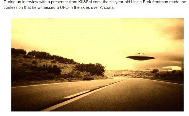 リンキン・パークのチェスター・ベニントン、自殺原因はUFOとの遭遇だった!! CIAの洗脳計画「MKウルトラ」の後遺症に苦しんでいた!?の画像1