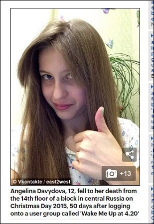 【国際】若者130人以上を殺したロシアの自殺ゲーム「Blue Whale(ブルー・ウェール)」が日本進出間近! [無断転載禁止]©2ch.netYouTube動画>6本 ->画像>282枚