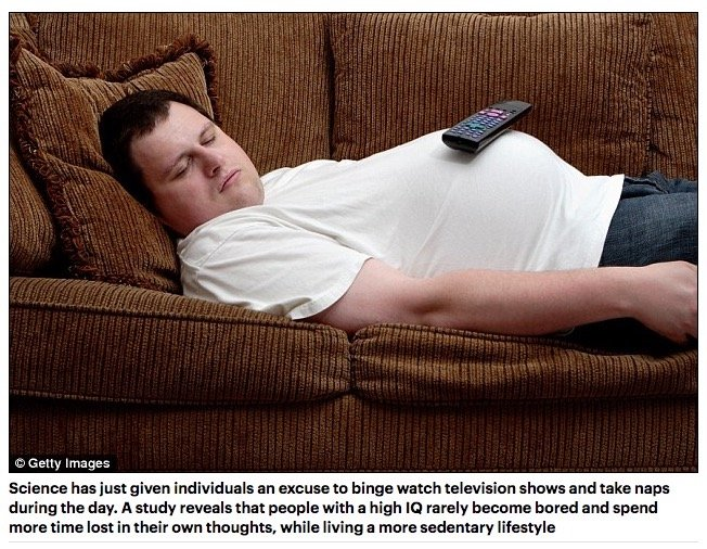 知的な人ほど怠惰で痩せていることが判明! 素早いデブは絶望的の画像1
