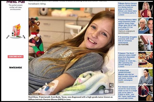 【速報】余命9カ月少女の脳腫瘍が突然消失…説明不可能な事態に医師唖然「信じられない!」 祈っただけで…証拠画像アリ!の画像1