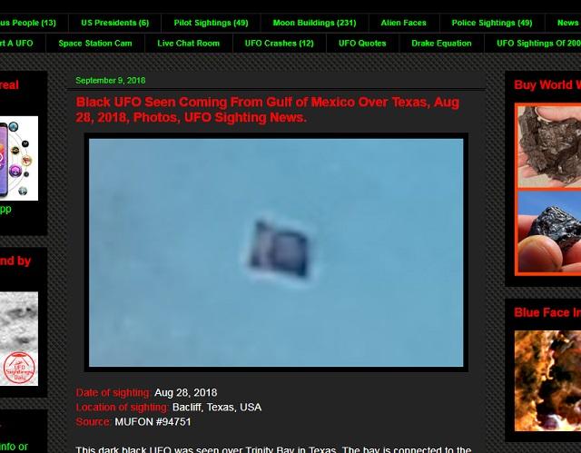 【衝撃画像】前代未聞「輸送型シェイプシフトUFO」出現! 謎の物体を抱えてホバリング… 専門家「海底に宇宙人基地があるから」の画像1