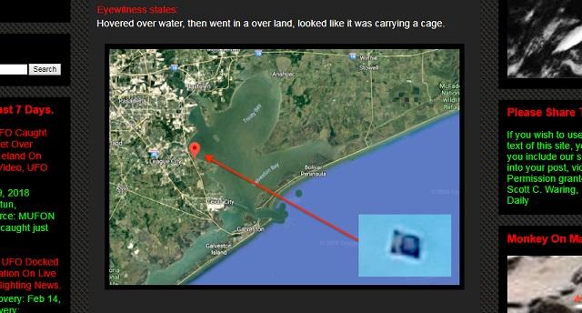 【衝撃画像】前代未聞「輸送型シェイプシフトUFO」出現! 謎の物体を抱えてホバリング… 専門家「海底に宇宙人基地があるから」の画像2