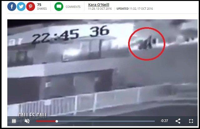 【鳥肌】ホウキに乗った魔女がアパートへの侵入を試みる瞬間が激撮される! 黒マントで空中をユラユラ飛ぶ姿に戦慄=コロンビアの画像2