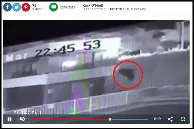 【鳥肌】ホウキに乗った魔女がアパートへの侵入を試みる瞬間が激撮される! 黒マントで空中をユラユラ飛ぶ姿に戦慄=コロンビアの画像3