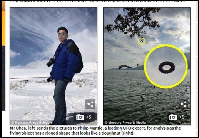 【衝撃】中国で「黄金の巨大コンドーム型UFO」と「ポン・デ・リング型UFO」が連続出現! 中国がUFO分野でも先進国にの画像1