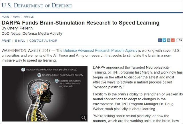 【ガチ】米軍最狂研究機関DARPAが人間の脳をハック「超知的ソルジャー」爆誕へ! 勉強不要で天才誕生、4年以内!の画像2