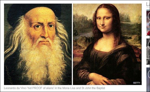 「モナ・リザ」に身分の高い宇宙人の姿がクッキリ描かれていた? ダ・ヴィンチの絵画からエイリアンが続々発見される!の画像1