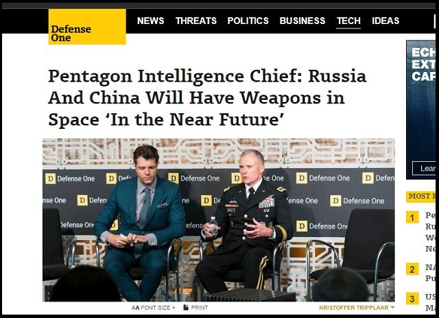 【緊急】「宇宙兵器がもうすぐ整う 」ペンタゴンが史上初の爆弾発言! 宇宙戦争時代の突入をガチ発表、中露を牽制!の画像1