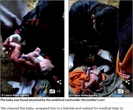 【ショック】首吊り自殺した母親の死体が産み落とした赤ん坊! ヘソの緒バンジー状態… 謎だらけの奇跡的出産=インドの画像1
