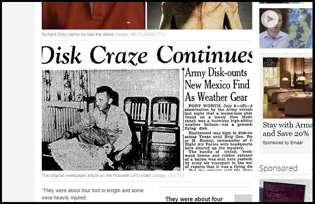 「ロズウェル事件」の真相を元空軍特別捜査官が爆弾証言! 1.2mのエイリアンの死体、謎のヘッドセット…の画像1