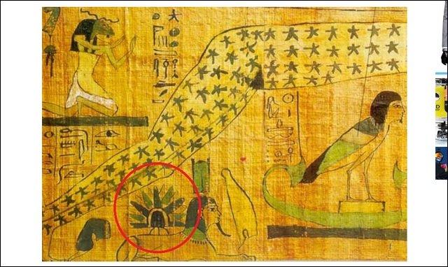【衝撃】「スフィンクスの背中に着陸したUFO」を描いたパピルスが発見される! 古代エジプトが宇宙人文明だった証拠が続々出土の画像3
