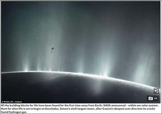 【NASA発表】土星の衛星「エンケラドゥス」に生命存在の可能性大!! エイリアンの姿を完全再現!(監修:世界的天文学者)の画像2