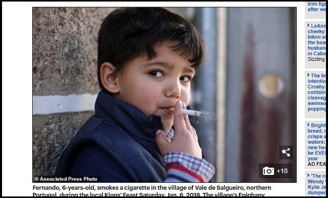 5才児でも喫煙が奨励されるポルトガルの村が超話題! 母親「すぐ煙を吐き出してるから問題ない」、ルーツ不詳の異教の儀式かの画像2