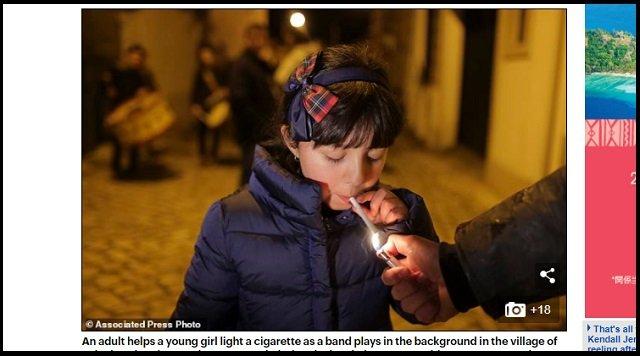 5才児でも喫煙が奨励されるポルトガルの村が超話題! 母親「すぐ煙を吐き出してるから問題ない」、ルーツ不詳の異教の儀式かの画像3