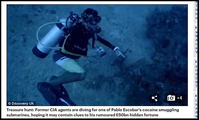 【速報】麻薬王・エスコバルの「隠し遺産5兆円」発見へ! 海底に沈む密輸潜水艦を元CIAが特定か!?=コロンビアの画像2